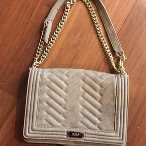 BCBG Quilted Suede Purse
